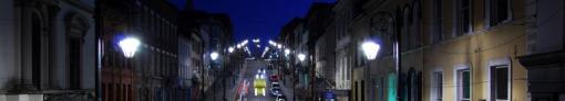 Night Street Scene in Londonderry, Northern Ireland