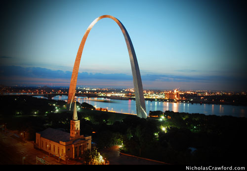 St. Louis Arch at Dawn