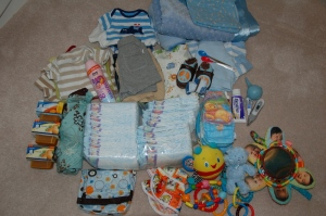 Baby Stuff Galore for a Two Week Trip